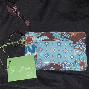 Vera Bradley ZIP ID case in Java Blue